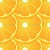 Orange citrus fruit. Healthy vegan food vector illustration. Seamless pattern Royalty Free Stock Photos