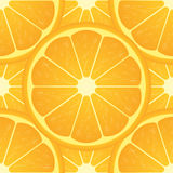 Orange citrus fruit. Healthy vegan food vector illustration. Seamless pattern Stock Photography