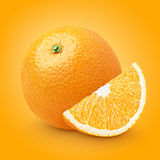 Orange citrus fruit with slice Royalty Free Stock Photography