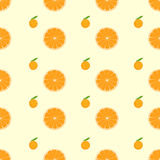 Orange citrus fruit slice seamless pattern vector Royalty Free Stock Images