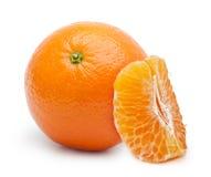 Orange citrus fruit, tangerine. Isolated on white background Stock Photo