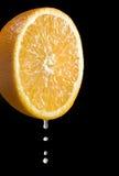 Orange Citrus Fruit With Juice Drops Stock Photos