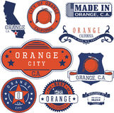 Orange city, CA. Stamps and signs Royalty Free Stock Photo