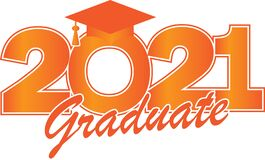 Free Orange Class Of 2021 Graduate Royalty Free Stock Images - 207889479
