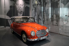 Orange classic audi car. From Audi Museum in Ingolstadt, Germany Royalty Free Stock Photo