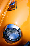 Orange classic car. An orange classic car fender Royalty Free Stock Image