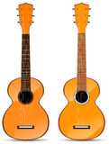 Orange classical acoustic guitar Royalty Free Stock Photography