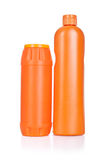Orange cleaning bottles Royalty Free Stock Photo