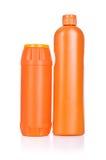 Orange cleaning bottles Royalty Free Stock Photo