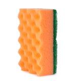 Orange cleaning sponge  Royalty Free Stock Photo