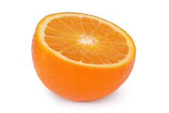 Orange (Clipping path). Orange Isolated on White. Clipping path included Royalty Free Stock Images