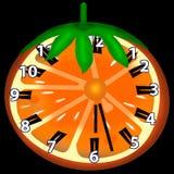 Orange clock Stock Image