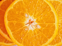 Orange close up. Fresh Orange slice close up Stock Photos