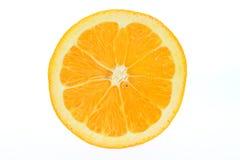 Orange Close-up. Close-up of an orange cut in half stock photos