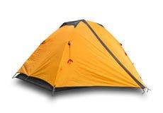 Orange closed tourist a tent royalty free stock photos