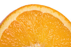 Orange closeup. Closeup of orange on white background Stock Images