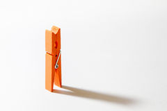 Orange clothes peg Stock Photography