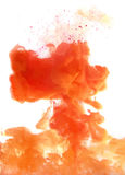 Orange cloud of ink Royalty Free Stock Image