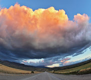 The orange cloud, like a bowl of cream Stock Photos