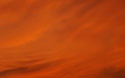Orange cloud and sky spreading on sunset Stock Photo