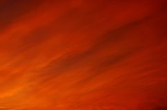 Orange cloud and sky spreading on sunset Royalty Free Stock Photo