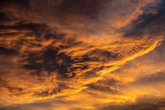 Orange Clouds stock photography