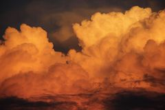 Orange Clouds Royalty Free Stock Images