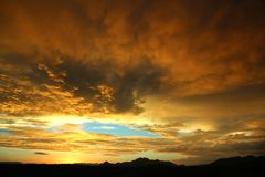 Orange Clouds during Daytime Stock Photos
