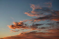 Orange clouds formation Royalty Free Stock Photo