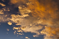 Orange clouds Stock Photos