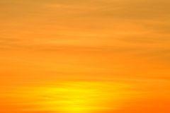 Orange clouds during sunset. Royalty Free Stock Photos
