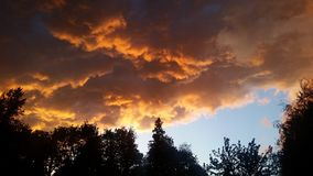 Orange clouds Royalty Free Stock Photography