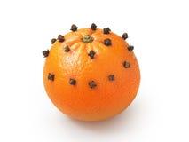 Orange with clove Royalty Free Stock Photo