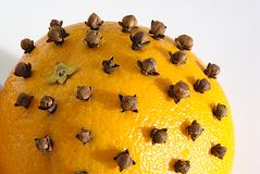 Orange and cloves Royalty Free Stock Photography