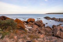 Orange Coastal Granite: Western Australia Stock Image