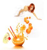 Orange cocktail Royalty Free Stock Photos