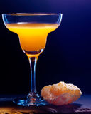Orange cocktail  on black background Stock Photo