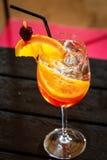 Orange cocktail drink Stock Images