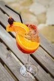 Orange cocktail drink Stock Photos