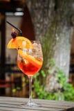 Orange cocktail drink Stock Photo