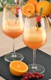 Orange cocktail. Royalty Free Stock Photos