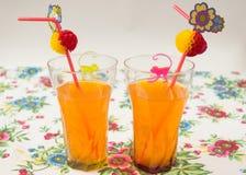 Orange Cocktail in einem Glas Lizenzfreies Stockbild