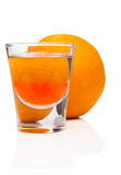 Orange cocktail and fruit Stock Image