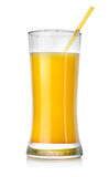 Orange cocktail in a big glass Stock Photos