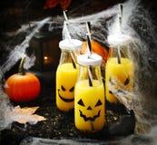 Orange cocktail for Halloween parties. Orange coctail for fall and halloween parties Royalty Free Stock Images
