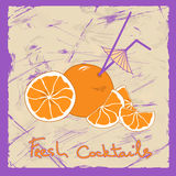 Illustration with orange cocktail Royalty Free Stock Photo