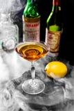 Orange cocktail with lemon Stock Photos