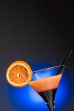 Orange Cocktail - nahes hohes der Vertikale Lizenzfreie Stockfotos