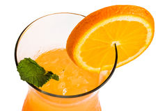 orange cocktail with orange slice Royalty Free Stock Images
