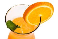 orange cocktail with orange slice Royalty Free Stock Images